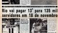 Jornal EXTRA O Dirigível Olho Grande. Pag 1. 2002