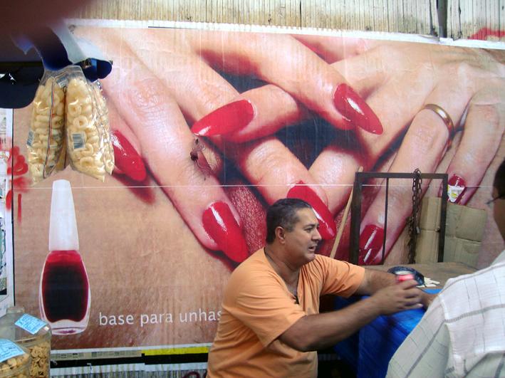 Cartaz Base para Unhas Fracas - Rio de Janeiro. 2008