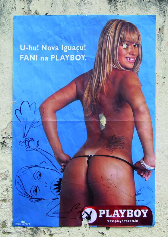 1 Fani Dark. cartaz e intervenção anonima. 2007