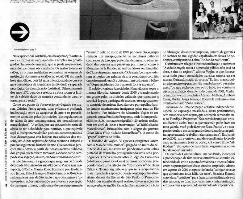 17 Atrocidades Maravilhosas (Grupos) - Folha de São Paulo 2003