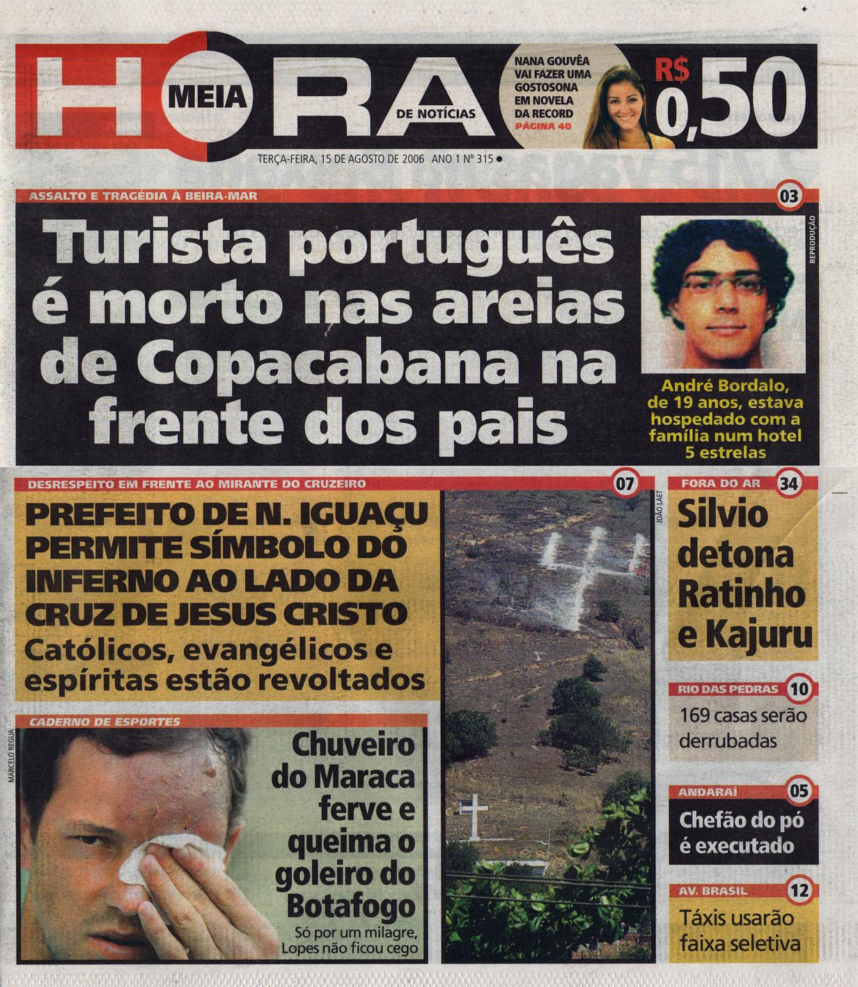 Jornal Meia Hora  15 de Agosto de 2006