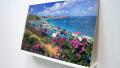 Pintura de Retoque - Ilha do Caribe. Guache e puzzle. 2006