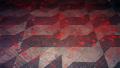 Atrocidade Grande. Roosivelt Pinheiro. Sem titulo. Balão de gás e pigmento vermelho. Praça da República. São Paulo. 2001