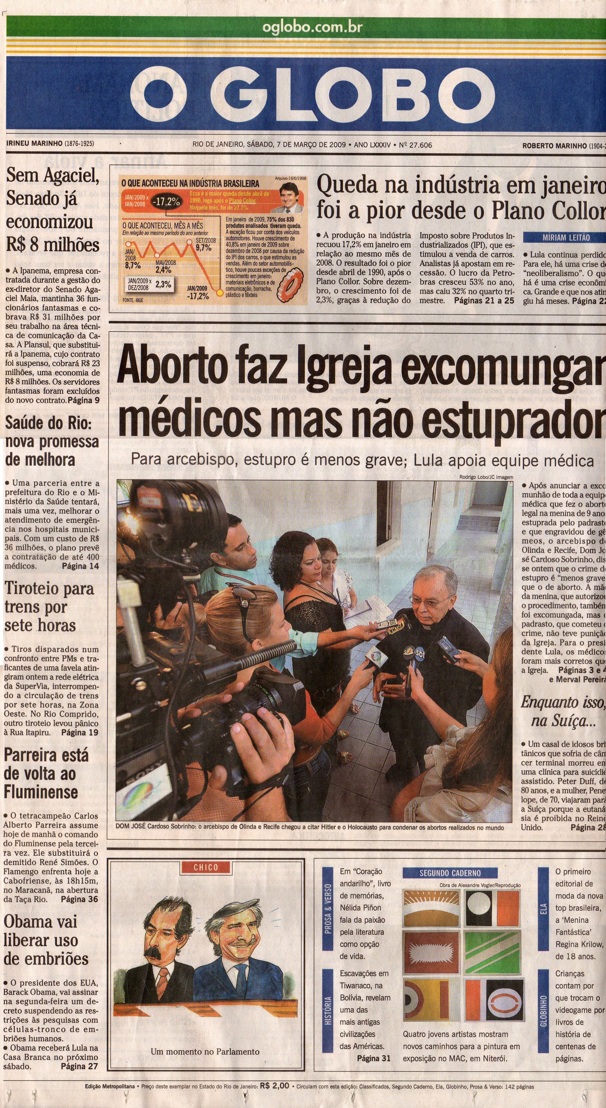 O Triunfo do Projeto Construtivo Brasileiro - O GLOBO 2009